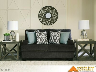 Charenton Charcoal Loveseat by Ashley