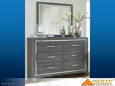 Lodanna Gray Dresser with Mirror by Ashley