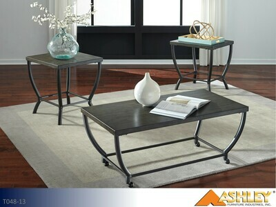 Champori Grayish Brown Occasional Table Set by Ashley (3 Piece Set)