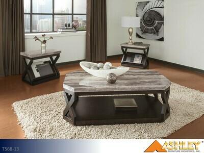 Radilyn Grayish Brown Occasional Table Set by Ashley (3 Piece Set)