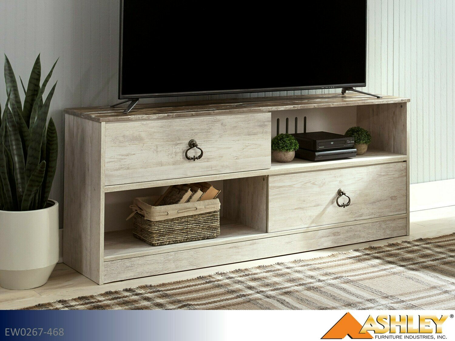 Willowton Whitewash TV Stand by Ashley