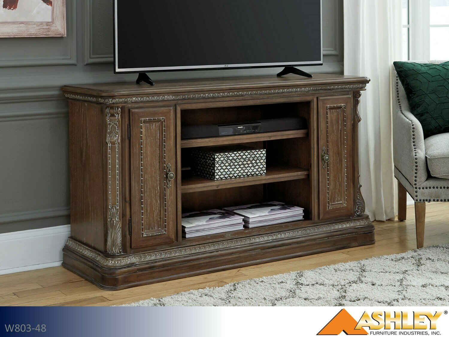 Charmond Brown TV Stand by Ashley