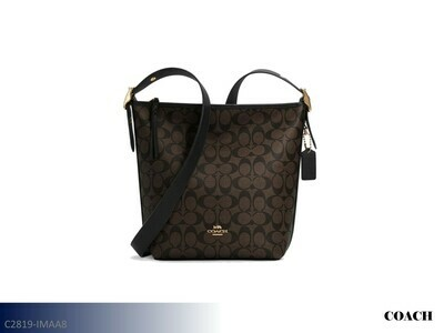 Val Brown-Black Handbag by Coach (Duffle)