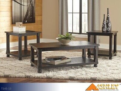 Mallacar Black Occasional Table Set by Ashley (3 Piece Set)