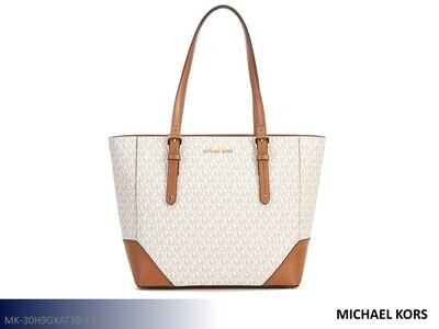 Aria Signature Vanilla-Acorn Handbag by Michael Kors (Tote)