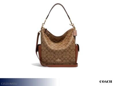 Pennie Khaki-Redwood Handbag by Coach (Shoulder Bag)