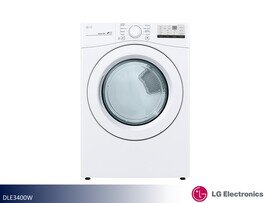 White Front Load Electric Dryer by LG (7.4 Cu Ft)