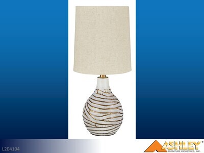 Aleela White-Gold Lamps by Ashley