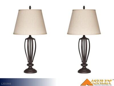 Mildred Bronze Lamps by Ashley (Pair)