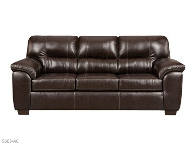 Austin Chocolate Stationary Sofa by Affordable