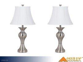 Rishona Brush Silver Lamps by Ashley (Pair)