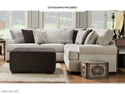 Griffin Menswear Stationary Sectional by Corinthian (2 Piece Set)
