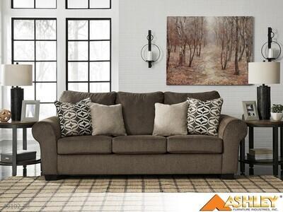 Nesso Walnut Stationary Sofa by Ashley
