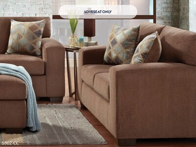Charisma Cocoa Loveseat by Affordable