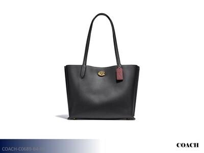 Willow Black-Brass Handbag by Coach (Tote)