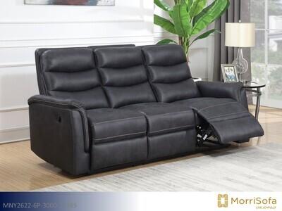 Fleetwood Navy Blue Reclining Sofa by Morrisofa