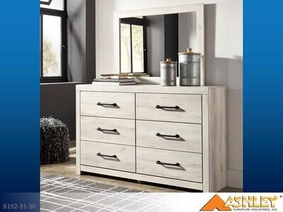 Cambeck Whitewash Dresser with Mirror by Ashley (2 Piece Set)