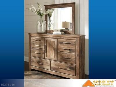 Blaneville Brown Dresser with Mirror by Ashley (2 Piece Set)