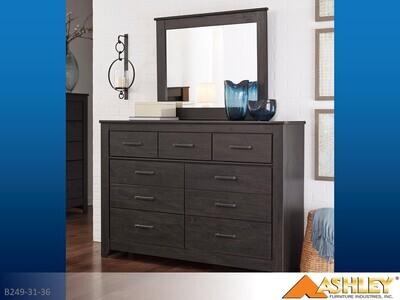 Brinxton Charcoal Dresser with Mirror by Ashley (2 Piece Set)
