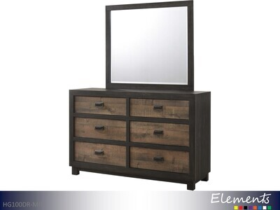 Harlington Dresser with Mirror by Elements (2 Piece Set)