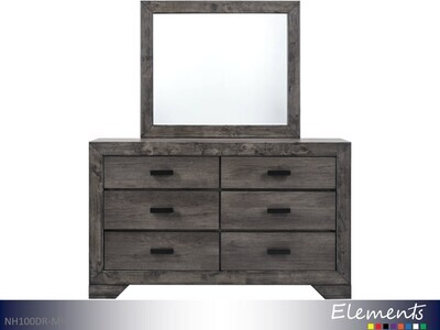 Nathan Dresser with Mirror by Elements (2 Piece Set)