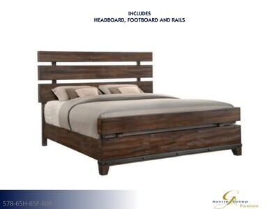 Forge Bed with Headboard Footboard Rails by Austin Group (King)
