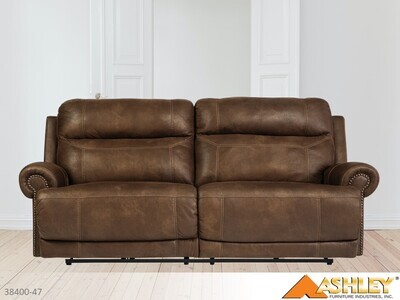 Austere Brown Reclining Sofa by Ashley (2 Seat)