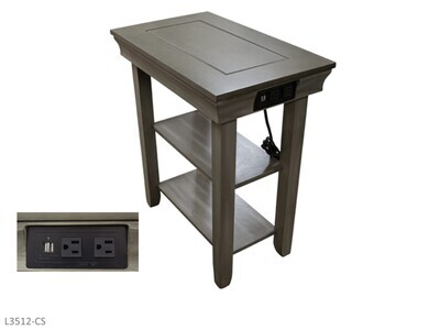 Jasper Brown Chairside Table by AWF Imports