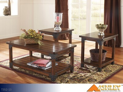 Murphy Medium Brown Occasional Table Set by Ashley (3 Piece Set)