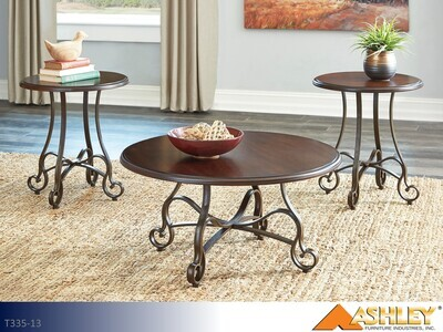Carshaw Brown Occasional Table Set by Ashley (3 Piece Set)