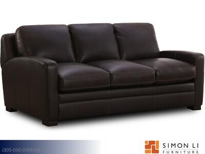Powell Dark Brown Stationary Sofa by Simon Li