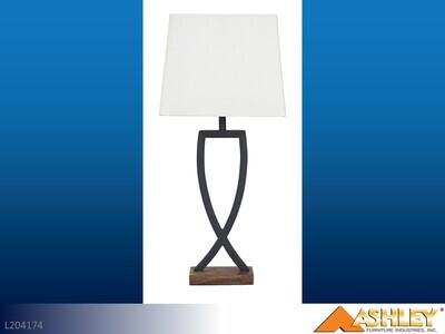 Makara Black-Brown Lamps by Ashley (Pair)