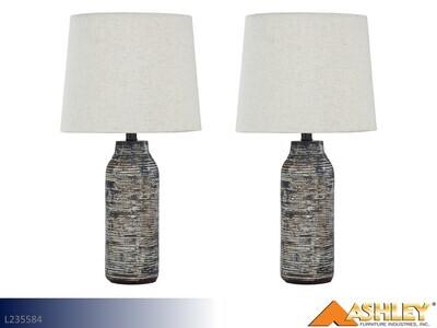 Mahima Black-White Lamps by Ashley (Pair)