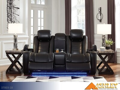 Party Time Midnight Reclining Loveseat by Ashley
