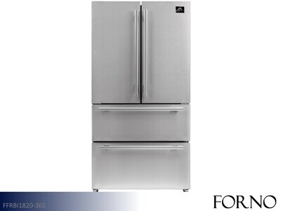 Stainless French Door Refrigerator by Forno (19.3 Cu Ft)