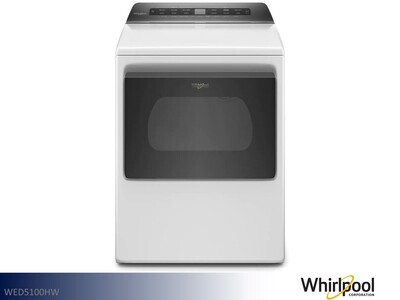 White Electric Dryer by Whirlpool (7.4 Cu Ft)