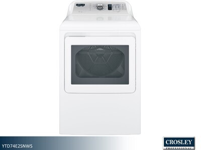 White Electric Dryer by Crosley Professional (7.4 Cu Ft)
