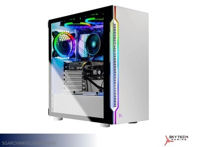 White Gaming Desktop by Skytech Gaming