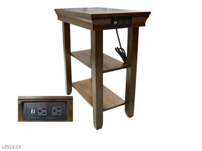 Jasper Gray Chairside Table by AWF Imports