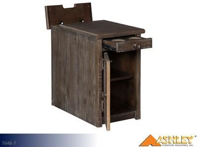 Wyndahl Rustic Brown Chairside Table by Ashley