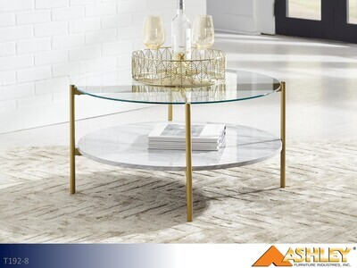 Wynora White Chairside Table by Ashley