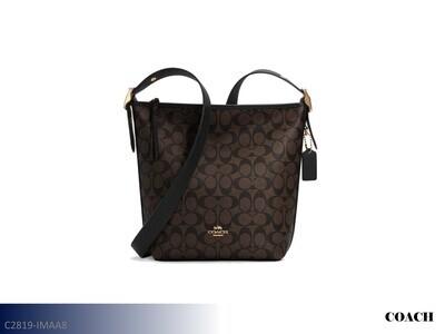 Val Brown-Black Handbag by Coach (Duffle)
