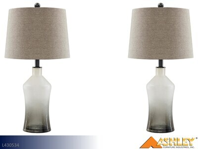 Nollie Gray Lamps by Ashley (Pair)