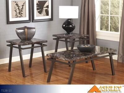 Paintsville Bronze Occasional Table Set by Ashley (3 Piece Set)