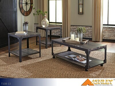 Jandoree Brown-Black Occasional Table Set by Ashley (3 Piece Set)