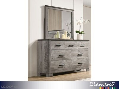 Millers Cove Dresser with Mirror by Elements (2 Piece Set)