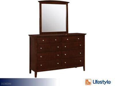 Carter Dresser with Mirror by Lifestyle (2 Piece Set)