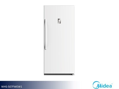 White Upright Freezer by Midea (14 Cu Ft)