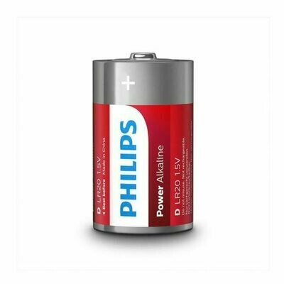 Pila LR20 Philips (Pack 2 Uds)