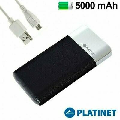 Bateria Externa Micro-usb Power Bank 5000 mAh Platinet Slim Negro (Polimero)